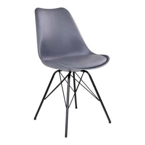 Oslo stol i grå med sorte ben