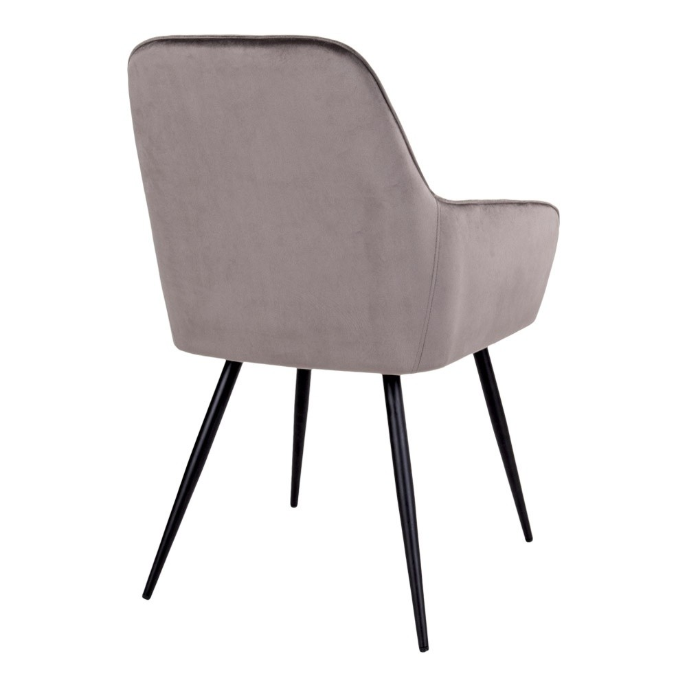 Harbo spisebordsstol med sorte ben
