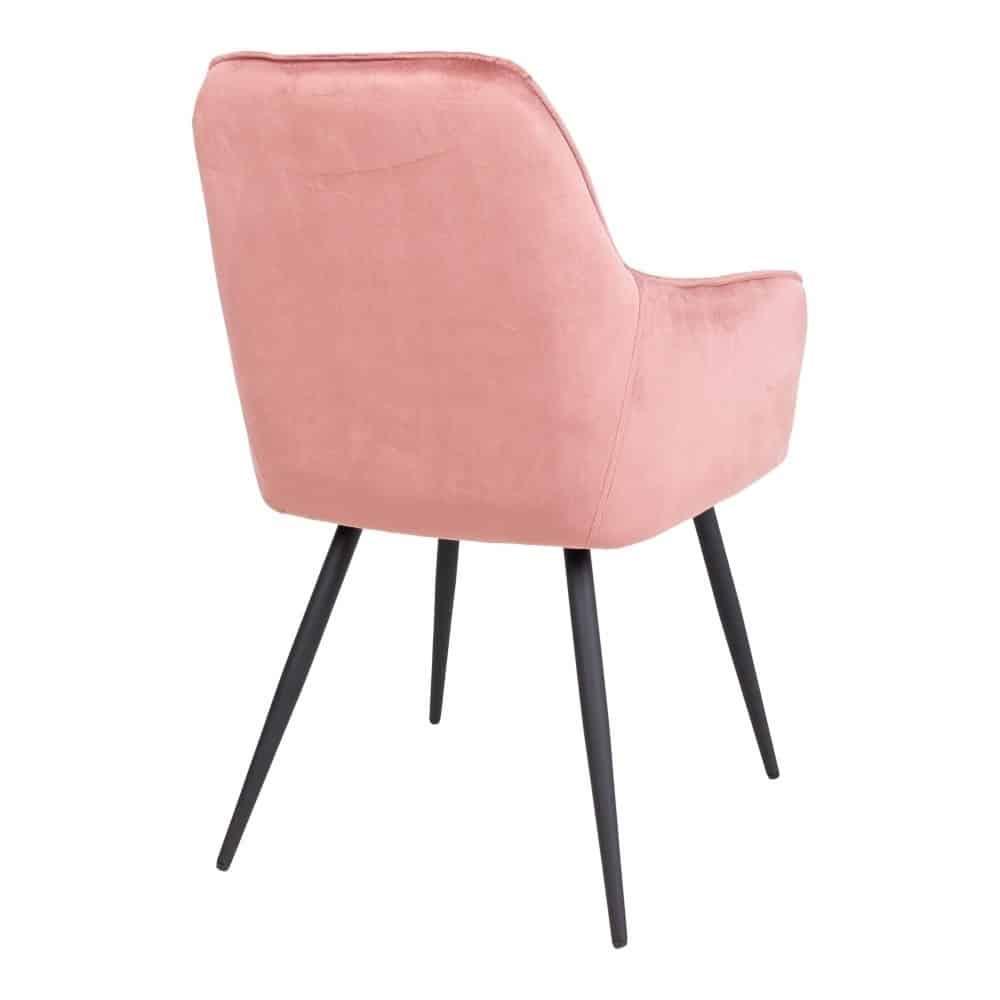 Harbo spisebordsstol i rosa velour