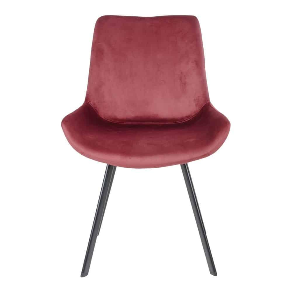 Drammen spisebordsstol i rød velour