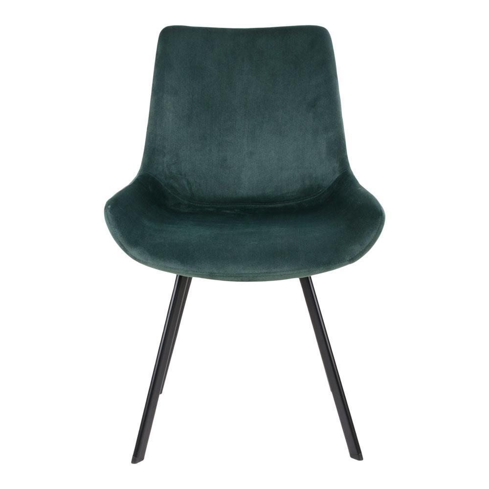 Grøn velour stol