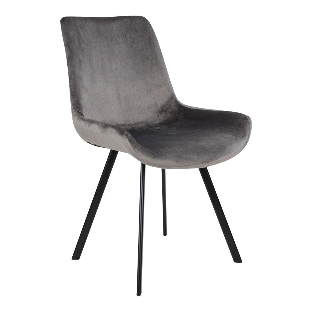 Drammen grå velour stol