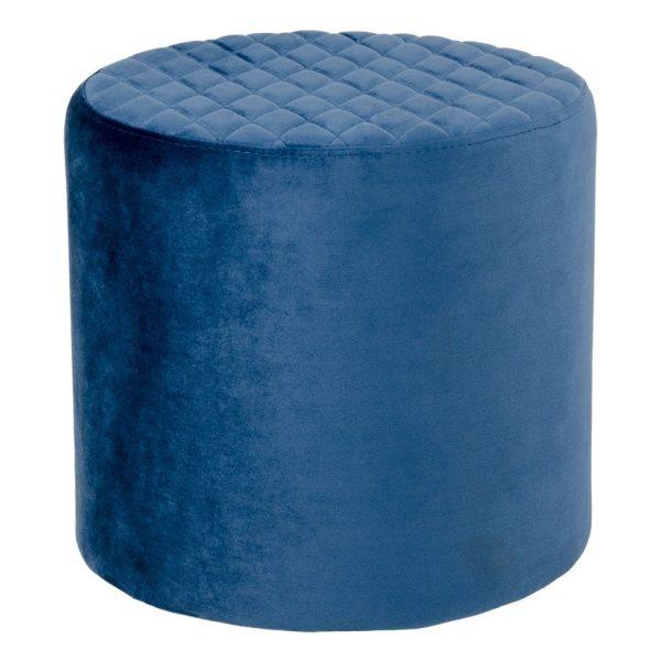 Blå Velour puf
