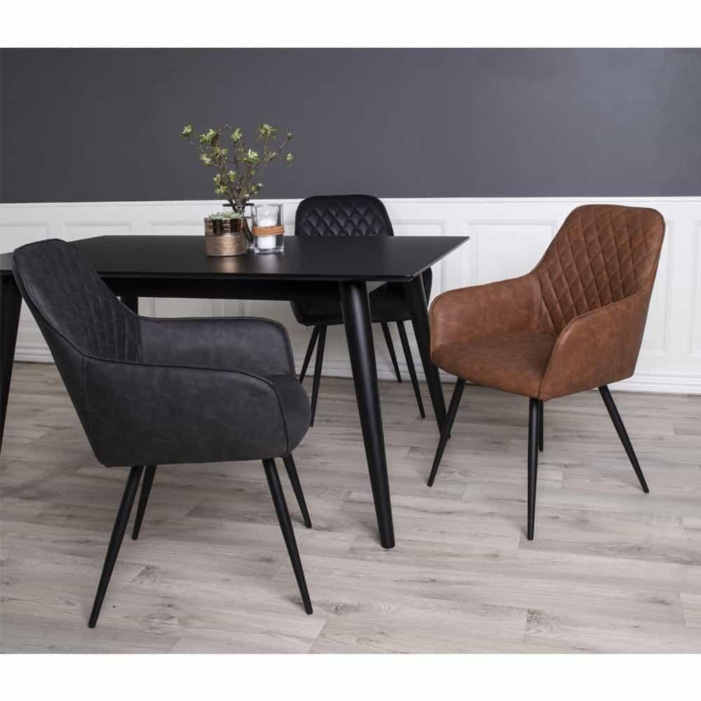 Sort og brun Harbo stol