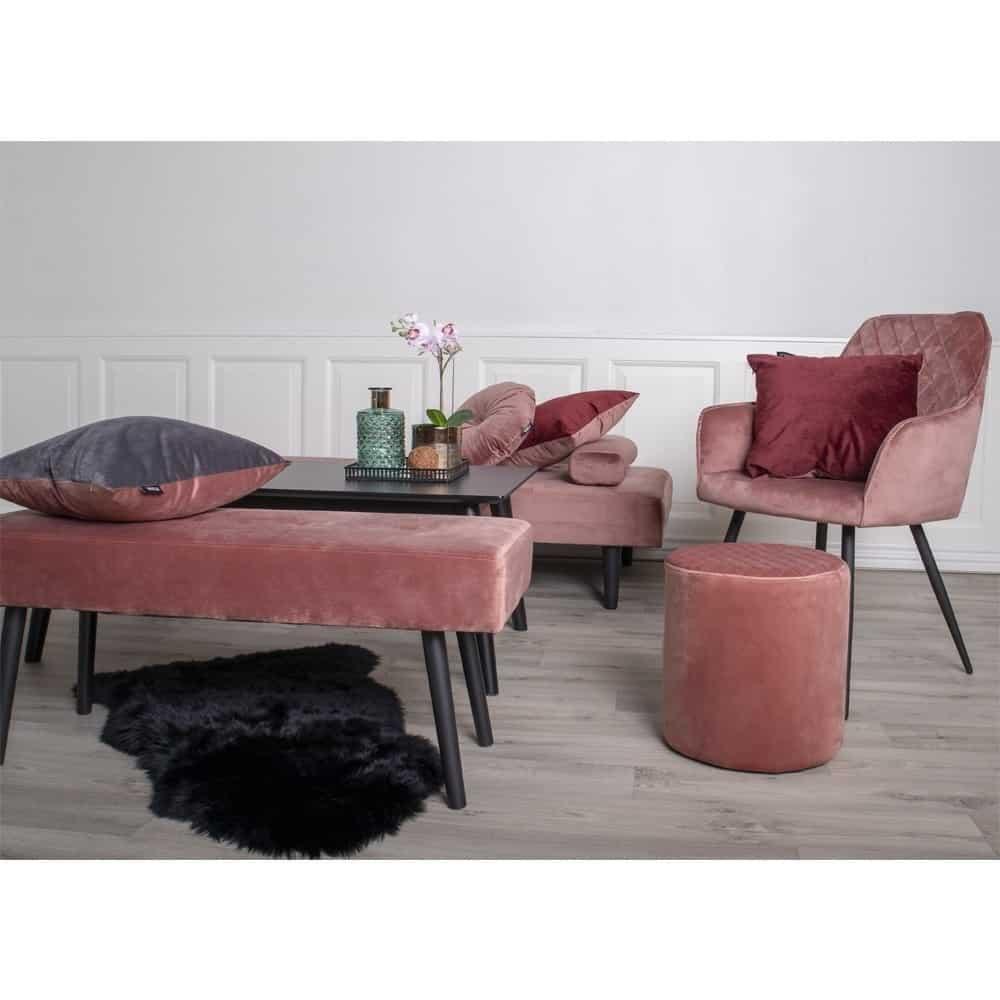 Rosa Harbo stol og puf