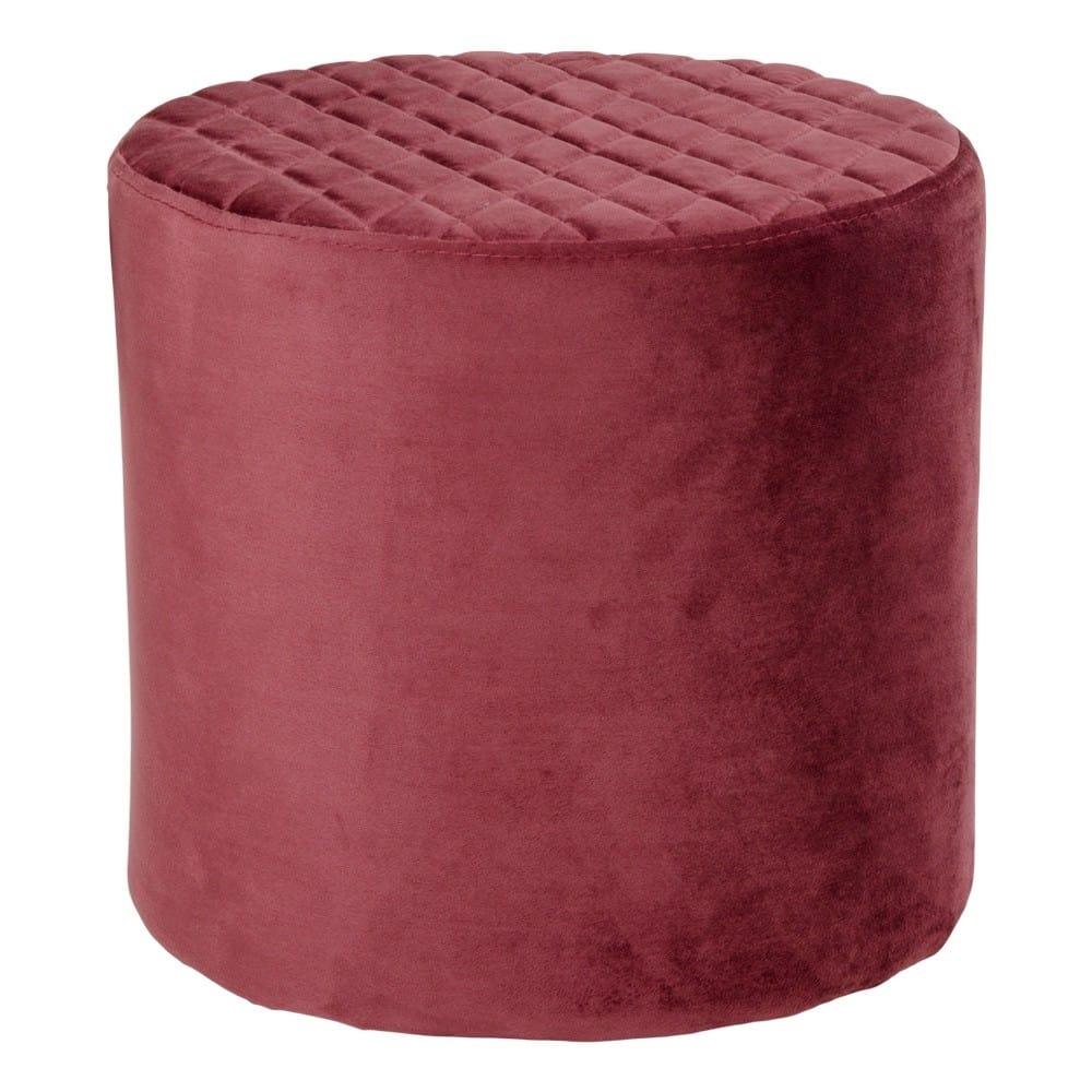 Rød Velour puf