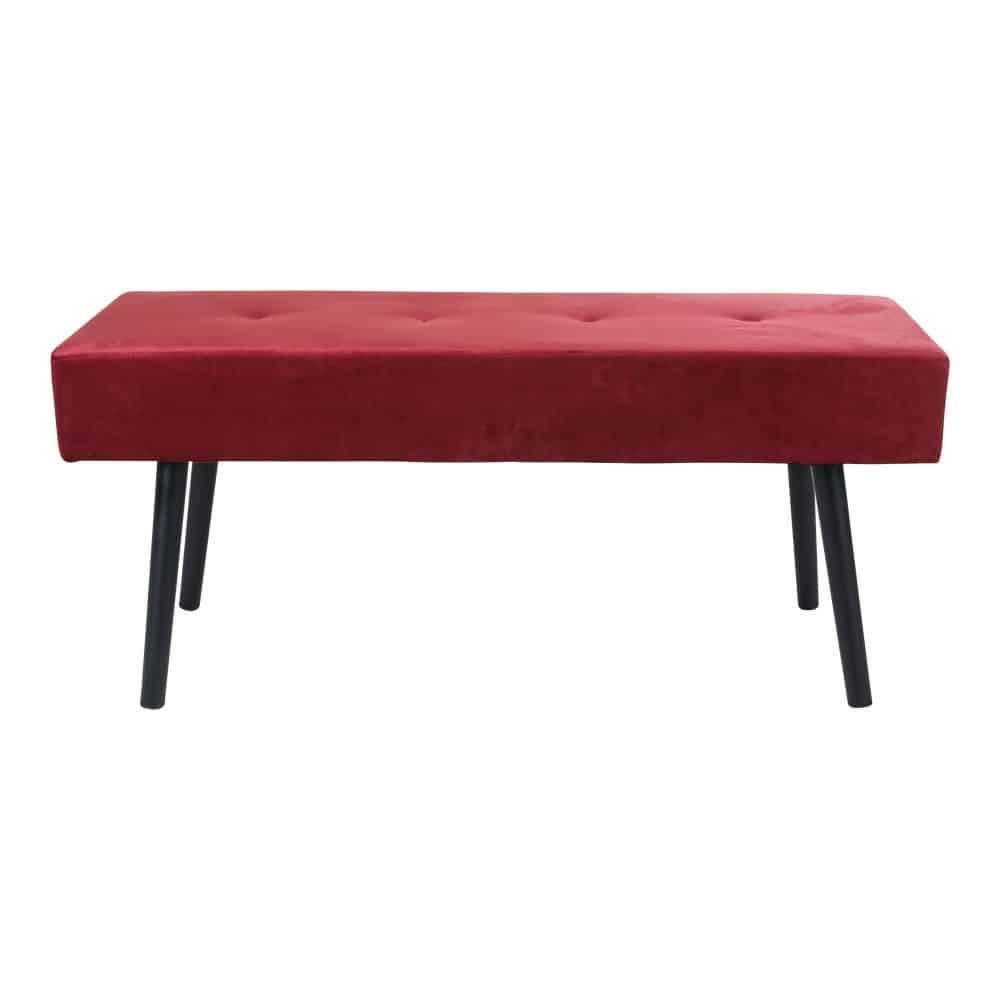 Rød Velour Bænk