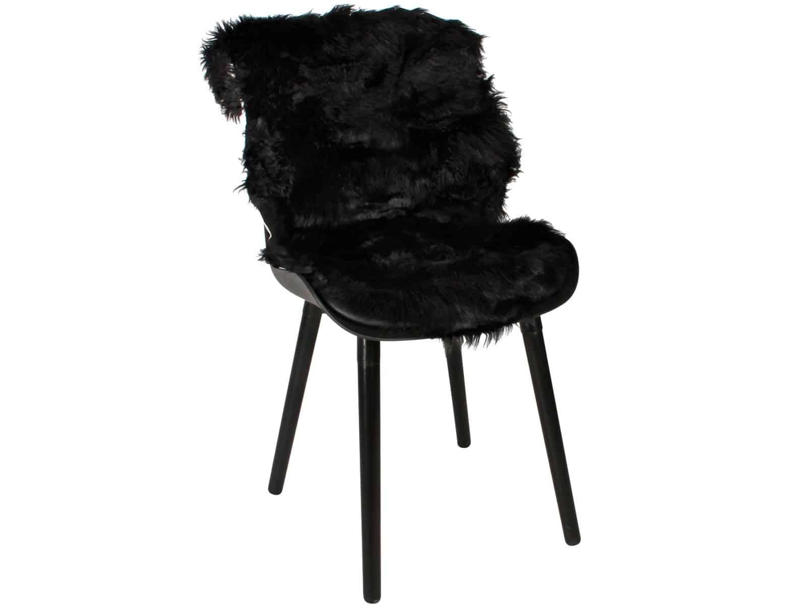 Sort dekorationsskind til stol